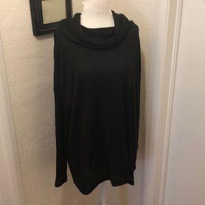 NWT long black cowl neck sweater!